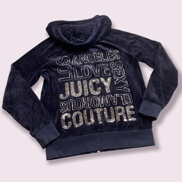 Juicy Couture Vintage Velour zip up track jacket